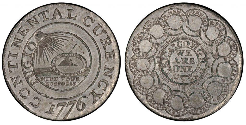 1776 Silver Continental Dollar