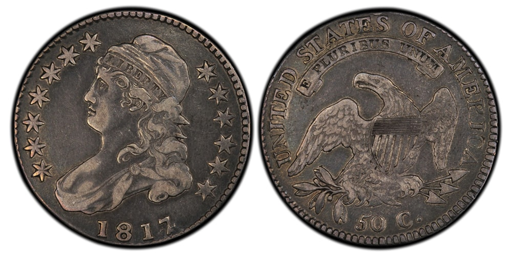 1817 4 Capped Bust Half Dollar
