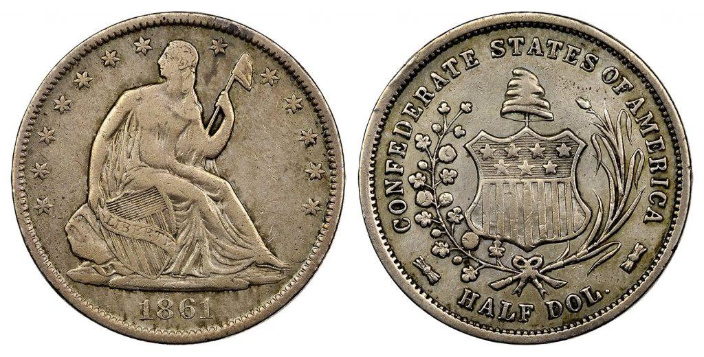 1861 Confederate States Half Dollar