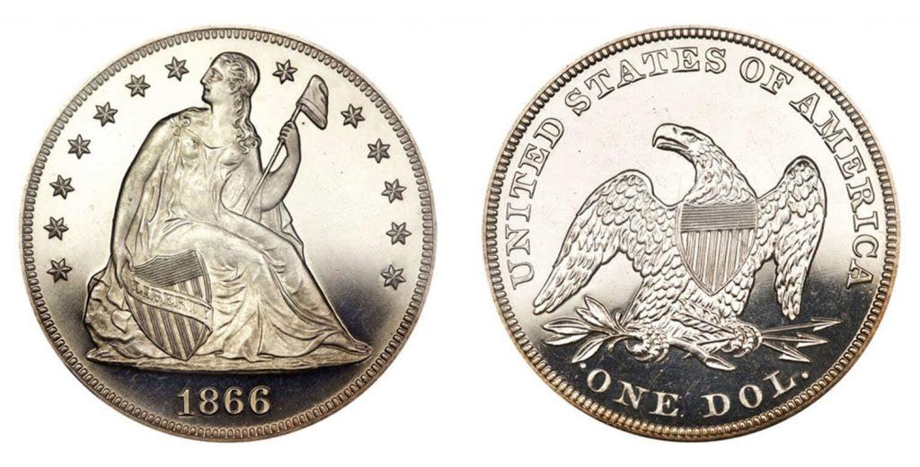 1866 Silver Coin