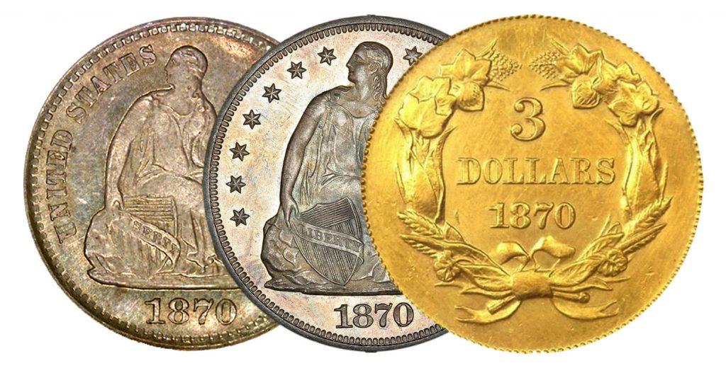 1870 Rare US Coins
