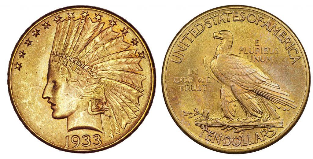 1933 Indian Head Gold Eagle