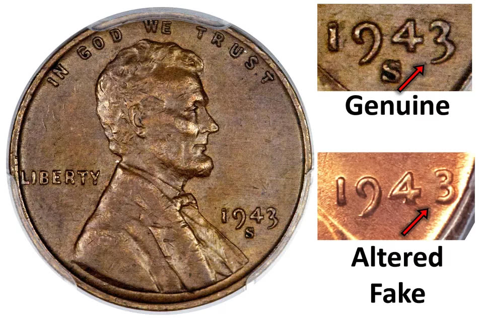 1943 penny genuine or fake