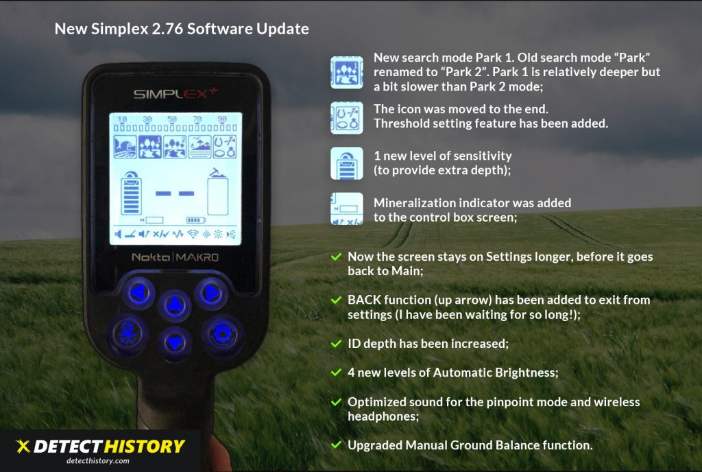 DetectHistory Simplex Update 2.76