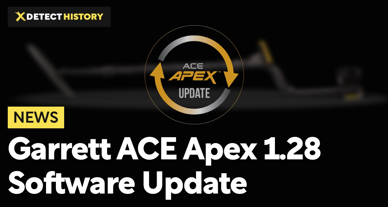 Garrett ACE Apex 1.28 Software Update