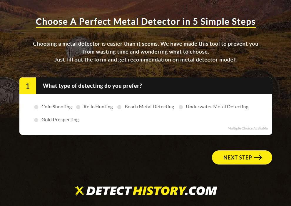 Metal Detector generator Detect History 1