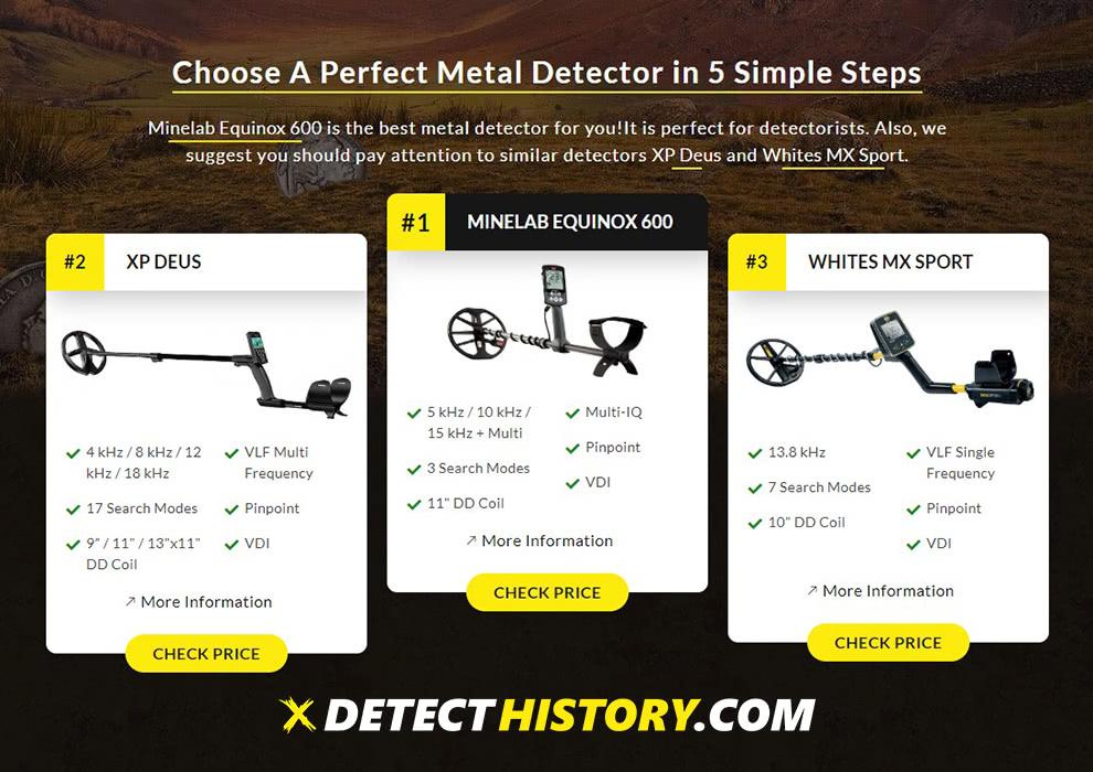 Metal Detector generator Detect History 2