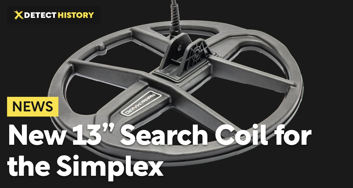 """New 13"""" Search Coil for Simplex by Nokta Makro"""