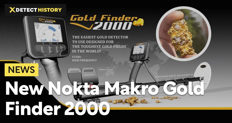 New Nokta Makro Gold Finder 2000 Metal Detector
