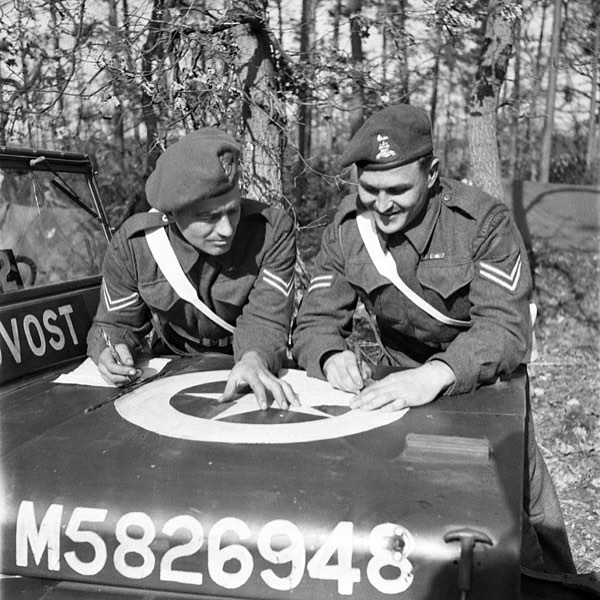Two unidentified corporals of the 2nd Provost Company