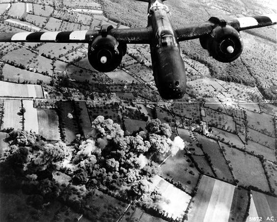 A-20G Havoc aircraft over Le Molay-Littry France 7 June 1944